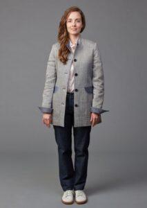 Gehrock für Damen aus Wolle Leinen Fischgrad der Leinenweberei Vieböck