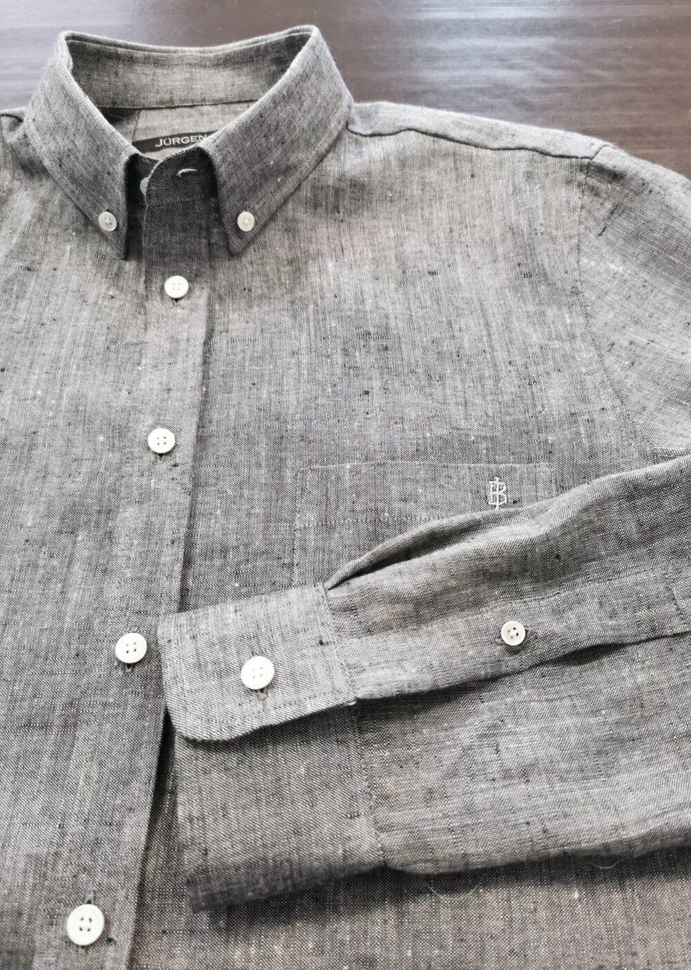 Hanf-Leinen-Hemd traunsee-blau
