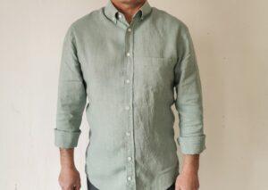 Hanf-Leinen-Hemd attersee-grün