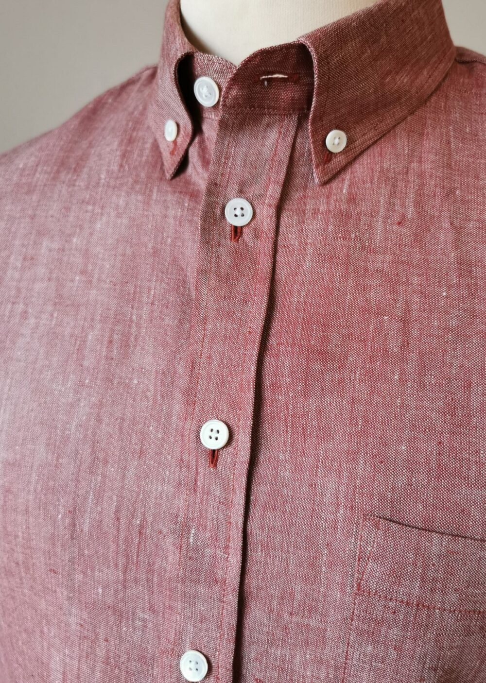 Hanf-Leinen-Hemd wein-rot