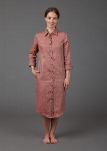 Hemdblusenkleid aus Hanf