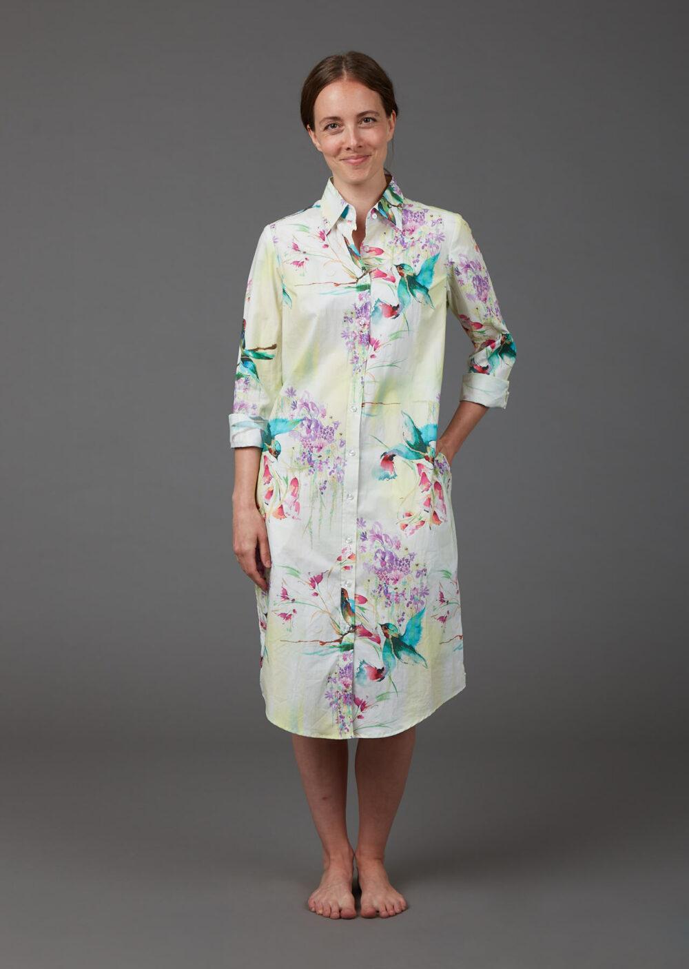 Hemdblusenkleid aus Bio-Baumwolle