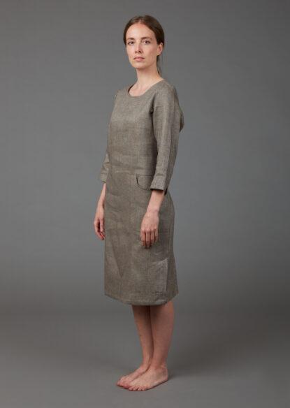Schlichtes, elegantes Kleid aus Bio-Baumwolle und Bio-Leinen