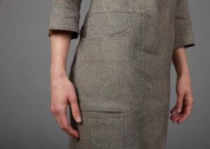 Damenkleid aus Bio-Leinen und Bio-Baumwolle