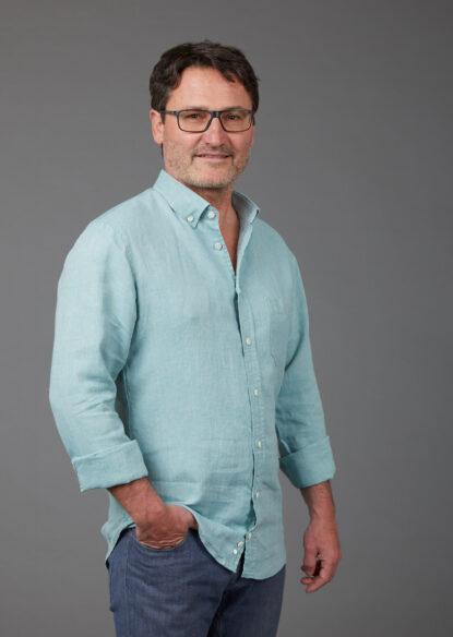 Herrenhemd aus Bio-Hanf und Bio-Leinen