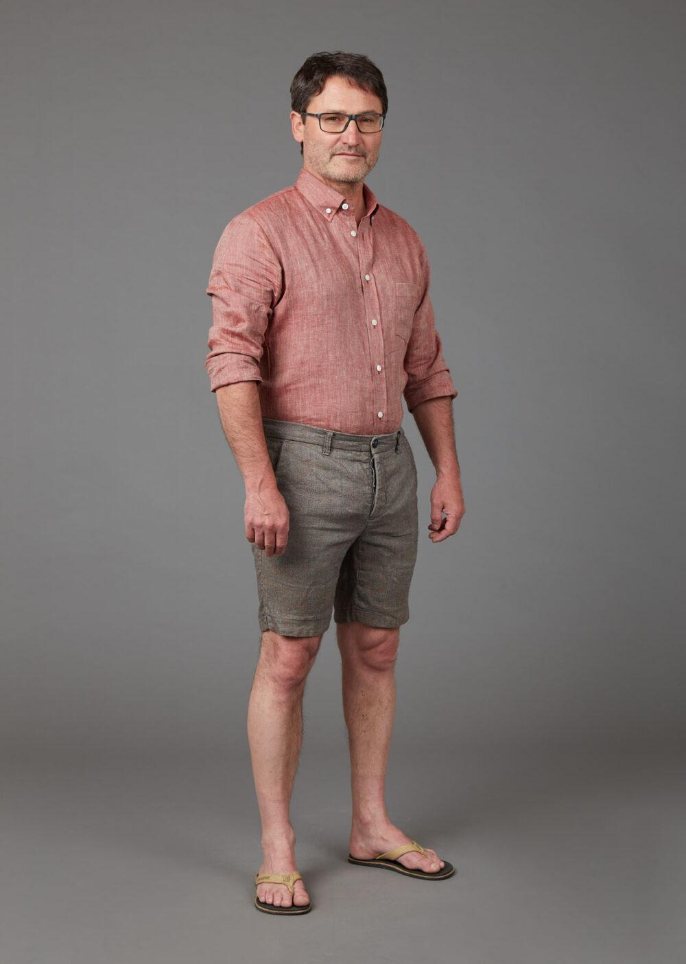 Herren Chino Shorts aus Bio-Leinen und Bio-Baumwolle